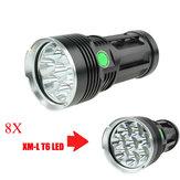 Skyray King 8x  T6 10000Lumens Super Bright LED Flashlight