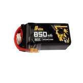 Auline 14,8 V 850 mAh 80C 4S Bateria Lipo XT30 / XT60 Wtyczka do 3-calowego 4-calowego drona wyścigowego FPV