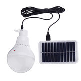 7W Portable Solar Panel USB  LED Camping Bulb Light for Outdoor Emergency Fishing Lamp