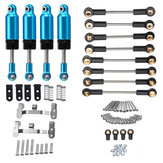 WPL Upgrade Ball Head Rod+4PCS Front Rear Shock Absorber+Refit Traction Link For 1/16 RC Car
