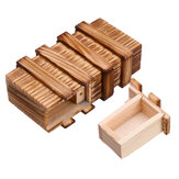 Compartment Wooden Puzzle Box Secret Drawer Brain Teaser Educational Toy Set