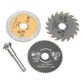 3 Pcs HSS 54.8mm Wood Circular Saw Blades dengan Mandrel Rotary Cutting Tool