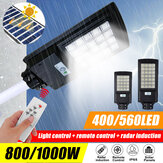 800W 1000W Solar Panel LED Farola Impermeable PIR Movimiento Sensor Patio de pared Lámpara + Control remoto