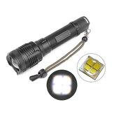 MECO1235XHP703trybyRotary Zoom Wodoodporna jasność Latarka LED 18650/26650