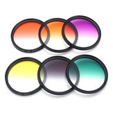 6 Pçs / set 58mm Graduado Color Filter Camera Kit Lens para Canon EOS 1100D 600D