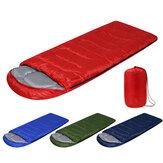 210x75cm 1600G cały sezon wodoodporny ultralekki kompaktowy piesze wycieczki Camping pojedynczy śpiwór z torbą do przenoszenia Solidne kolory lekki śpiwór