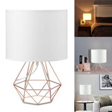 Hollowed Out Modern Livingroom Bedroom Bedside Table Lamp Desk Lamp With Shade