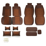 Leather Car Seat Cover 5-Seat SUV Car Seat Cushion Front Rear Set