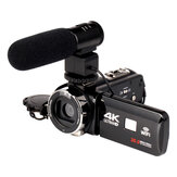 4K WiFi Ultra HD 1080P 16X ZOOM Video digitale fotografica Videocamera DV con lente e Microfono