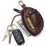 GZCZ Genuine Leather Car Key Holder Key Bag