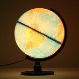 クリエイティブイルミネーション世界地球地球儀回転ナイトライトデスクトップ装飾