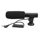 3,5 mm externe stereomicrofoon MIC voor Canon DSLR-camera DV-camcorder