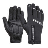 WHEEL UP Touch Screen Full-finger Cycling Bicycle Gloves Windproof Anti-Slip Thermal Bike Gloves