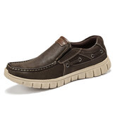Menico Men Comfy Lightweight Soft Sole Slip On Boat Shoes