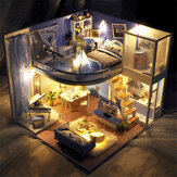 TIANYU Dream Starry Sky(ロフト版)TD39DIYドールハウス手作業で組み立てたモデルクリエイティブクリエイティブ玩具ダストカバー付き