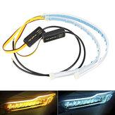 2 ADET 30 CM Su Geçirmez LED Araba DRL Gündüz Koşu Lamba Şerit Işığı Soft Küvet