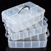 3-Layer Storage Case Detachable Plastic Cosmetic Tool Box Jewelry Holder Container 30 Grid