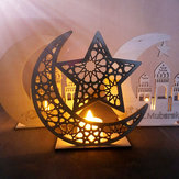 Holz DIY Dekorationen Islamic Palace Eid Al-Fitr Mubarak Geschenke Home Ornament