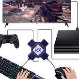 KX USB Controladores de Jogo Adaptador Conversor Video Game Keyboard Mouse Converter para Switch / Xbox / PS4/PS3