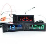 Alta precisione 3 IN 1 Car Clock luminoso Termometro Voltmetro Temperatura dell'automobile Batteria Voltage Monitor Panel Meter DC 12V Clock