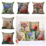 Vintage Flower Throw Pillow Case Cover 18''x18'' Square Cushion Cover Pillow Cover Protector for Couch Sofa Chair Bedroom Home Car Decor