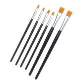 2 قطع نموذج اللون القلم فرشاة مسطحة أدوات الرسم باليد ل أصباغ اللوحة النفط