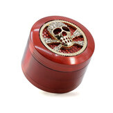 Multi Color 4Layers 63mm Zinc Alloy Skull Shape With Drawer Herb Grinder Tobaccos Grinder Herb Grinder