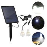 ソーラーパネル2ピースLED電球キット防水ライトセンサー屋外キャンプテント釣り緊急ランプ