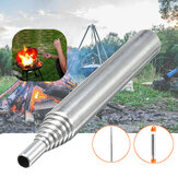 304 Stainless Steel 485/600mm Fire Bellows Telescopic Collapsible Blower Pipe Campfire Tool Camping Picnic