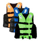 Life Jacket Adult Swimming Polyester Foam Life Jacket Vest Whistle Prevention Flood Waterproof-XL