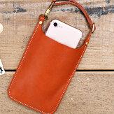 Натуральная кожа Винтаж Повседневная сумка для 6,1-дюймовых телефонов Сумка Монета Сумка Талия Сумка Для мужчин Женское