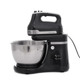 Electric Stand Mixer Cream Food Baking 5 Speed Steel Mixing Bowl 800W Black 4.2L