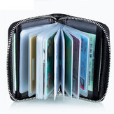 RFID Protection Men Women Card Holder Zipper Short Purse Portable Wallets