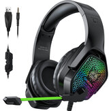 ONIKUMA X3 Gaming Headset Over-ear 3.5mm LED Light Stereo Bass Game Headphones with Mic for PC Laptop Gamer