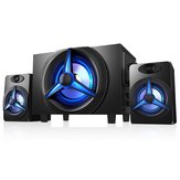 SAD K9 Bluetooth 5.0 Luidspreker Desktop 2.1 Luidsprekers HiFi Heavy Bass TF-kaart U Disk Stereo Speaker