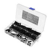 Suleve M5CH1 140Pcs M5 12.9 Grade Carbon Steel Hex Socket Cap Head Screw Bolt Assortment Kit