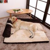 LuxeCorduroyBolsterHondenSlaapbankPuppy Fleece Mat voor groot hondenbed