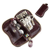 Men Oil Wax Genuine Leather 6 Key Holder Vintage Card Holder