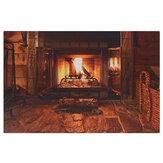 暖炉パターン壁タペストリーアートパターンホームタペストリー壁掛けブランケットルーム寝具装飾