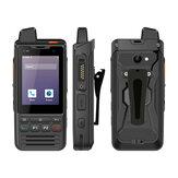UNIWA F60 Zello POC Walkie Talkie Rede 4G FDD / TDD-LTE IP68 à prova d'água 5300mAh 2,8 polegadas Android 9.0 Pie GPS Quatro Core 1GB + 8GB com telefone NFC SOS Dual SIM Dual Standby
