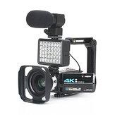 KOMERY AF2 48M 4K Video Camera for Vlogging Live Camcorder NightShot Anti-shake Camcorder WIFI APP Control DV Video Recording with Microphone Lens Light Stabilizer