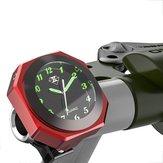 7/8 inch 1 inch motorfiets lichtgevende stuurhouder klok horloge aluminiumlegering