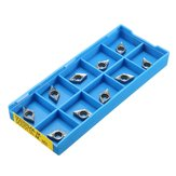 Drillpro 10pcs DCGT0702-AK H01 / DCGT21.51-AK H01 Inserts Used for Aluminum Turning Tool Holder Cutter