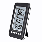 Wireless Digital LCD Display Termometro Radio Wave Time Adjust Termometro