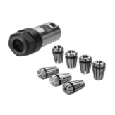 7Pcs ER11 1-7mm Spring Collets with ER11A 5mm Motor Shaft Holder Extension Rod