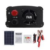 LEORY LCD Controlador AC230V 1000W Solar Sistema de alimentación Panel Solar + Controlador Solar + Conjunto de inversor