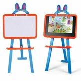 子供のための1つの磁気執筆の描画板の両面学習イーゼルの教育おもちゃに付き3つ