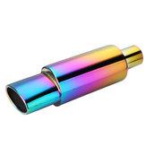 Embout de silencieux Racing de tuyau d'échappement en acier inoxydable de 55 mm, universel