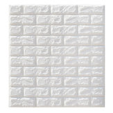 5Pcs 3D Impermeable Tile Brick Wall Sticker Autoadhesivo Panel de Espuma Blanca 70x77cm