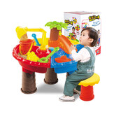 2 IN 1 Multi-style Summer Beach Sand Kids Play Water Digging Sandglass Play Sand Tool Set Toys for Kids Perfect Gift